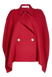 See By Chloe Trench Cape With Cotton Red