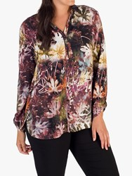 Chesca Abstract Grape Blouse Purple