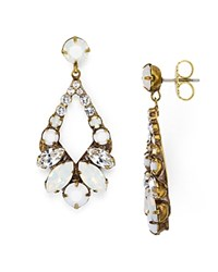 Sorrelli Crystal Teardrop Earrings Antique Gold
