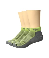 Drymax Sport Running Mini Crew 3 Pack Sublime Anthracite Crew Cut Socks Shoes Green
