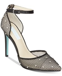 Blue By Betsey Johnson Falon Pumps Women's Shoes Black Mesh
