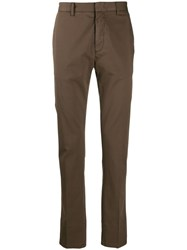 Z Zegna Straight Fit Chinos Brown