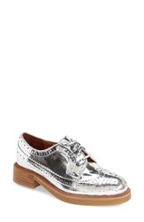 Women's Jeffrey Campbell 'Gershwin' Oxford Silver