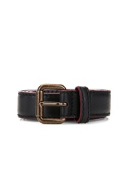 Tomas Maier Contrast Trim Leather Belt