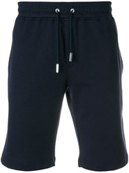 Eleventy Drawstring Fitted Shorts Blue