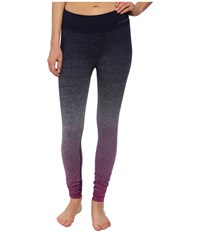 Brooks Streaker Tights Currant Navy Women's Casual Pants Brown