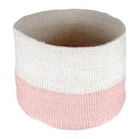 The Basket Room Colour Block Jioni Hand Woven Pink Pink White