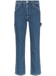 3X1 Rose Straight Leg Carpenter Jeans Blue