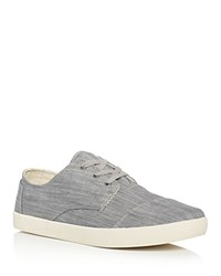 Toms Paseo Denim Lace Up Sneakers Grey