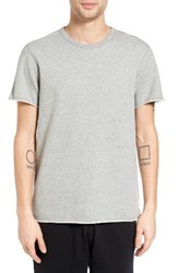 Reigning Champ Men's Raw Edge T Shirt Heather Grey