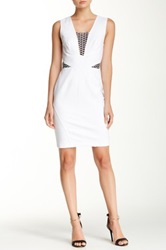 Yoana Baraschi Fast Track Mesh Trim Body Dress White
