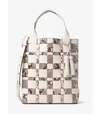 Vivian Large Woven Leather Tote