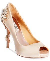 Badgley Mischka Royal Evening Pumps Women's Shoes Nude