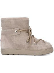 Moncler 'New Fanny' Ankle Boots Grey