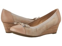Geox W Floralie 21 Light Taupe Women's Wedge Shoes