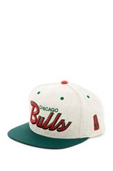 Mitchell And Ness Bulls Brushed Heather Holiday Snapback Gray