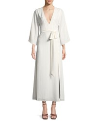Donna Mizani Charlize Wrap Front Maxi Dress White