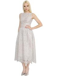 Ingie Shiny Spiral Lace And Organdy Dress