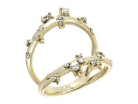 Alexis Bittar Double Band Satellite Crystal Ring 10K Gold