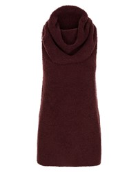 Jaeger Laboratory Cowl Neck Tunic Red