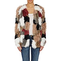 Ulla Johnson Women's Fur Patchwork Ynes Cardigan No Color