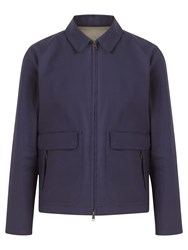 Jigsaw Proofed Cotton Double Face Harrington Jacket Marine