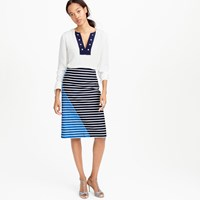 J.Crew Petite Colorblock Striped Skirt