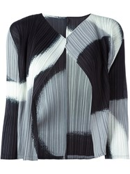 Issey Miyake Pleats Please By Abstract Pattern Cardigan Multicolour