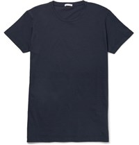 Tomas Maier Slim Fit Cotton Jersey T Shirt Navy