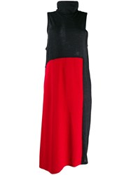 Y's Roll Neck Dress Red