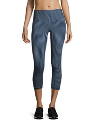 Olympia Mateo Striped Cropped Leggings