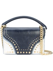 Diane Von Furstenberg Dvf Studded Shoulder Bag Blue