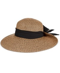 Nine West Packable Upbrim Floppy Hat With Scarf