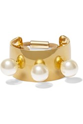 Jennifer Behr Gold Plated Swarovski Pearl Hair Tie