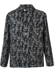 Julien David Patterned Shirt Jacket Grey