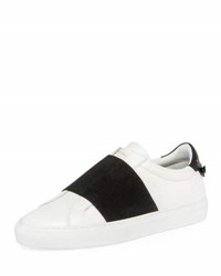 Givenchy Urban Knots Elastic Slip On Sneaker White Black White Black