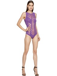 Pin Up Stars Devore Lycra Jersey Bathing Suit