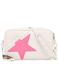 Golden Goose Star Leather Shoulder Bag White