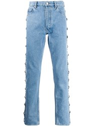 Martine Rose Side Button Panel Jeans Blue