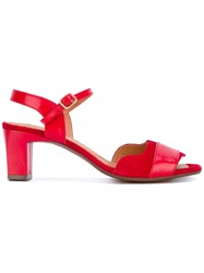 Chie Mihara Katis Sandals Women Leather Rubber 38 Red