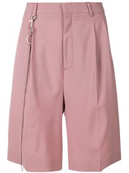 Cmmn Swdn Pleated Chino Shorts Pink And Purple