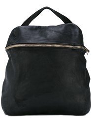 Guidi Front Double Zip Backpack Women Horse Leather One Size Black
