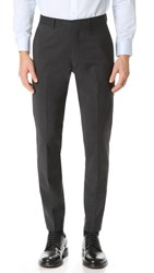 Club Monaco Grant Wool Suit Trousers Dark Charcoal