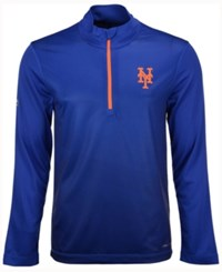 Majestic Men's New York Mets Good And Approved Half Zip Pullover Royalblue