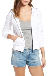 Juicy Couture Women's Robertson Velour Hoodie White