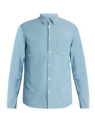 A.P.C. Xavier Cotton Chambray Shirt Light Blue