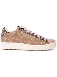Coach Signature Low Top Sneakers Brown
