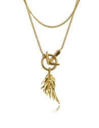 Roberto Cavalli Wing Antique Gold Necklace