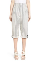 Women's Alice Olivia 'Rey' Rolled Cuff Ticking Stripe Pants