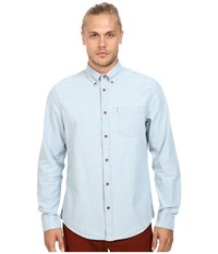 Ben Sherman Long Sleeve Chambray Woven Shirt Sky Blue Men's Long Sleeve Button Up